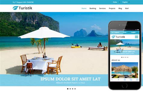 free bootstrap templates for tourism turistik a travel guide flat bootstrap responsive web