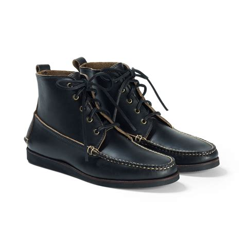 club monaco rancourt 5 eyelet boot in black for black