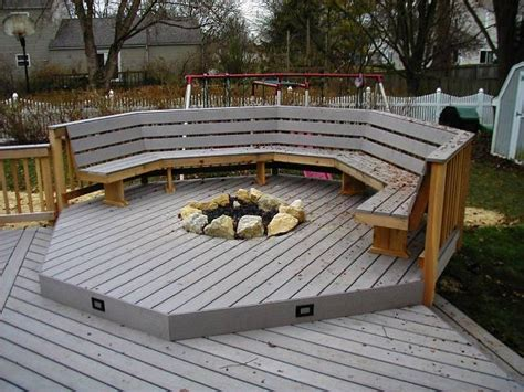 Recessed Gas Fireplaces For Deck Recessed Firepit With Deck Firepit