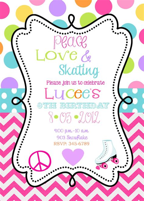 skating invitations templates roller skating invitations theruntime