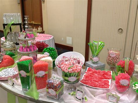 Candybar Real Events Pink And Lime Green Candy Bar Pink And Green Buffet