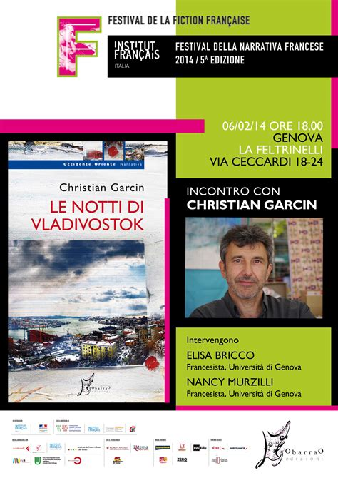 librerie universitarie genova christian garcin 224 g 234 nes pour le festival de la fiction