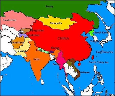 map of china and surrounding countries where is china