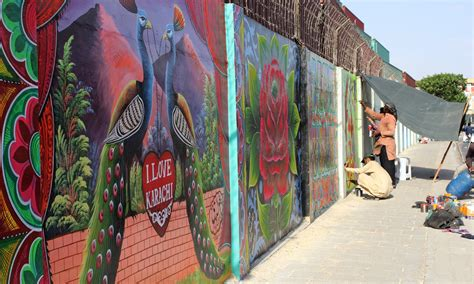 painting the walls in karachi when hate on the wall disappears pakistan