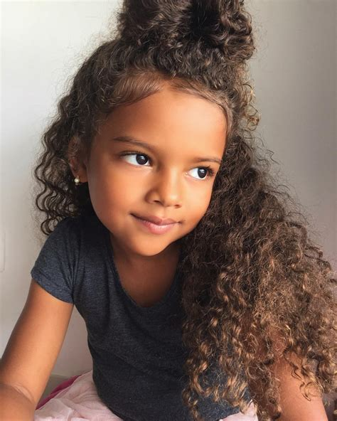 cutting biracial curly hair styles sweety so cute hairspiration pinterest curly bun