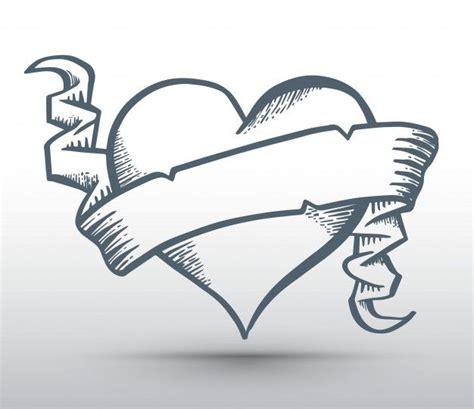 coracao  fita desenho banner   conceito de amor