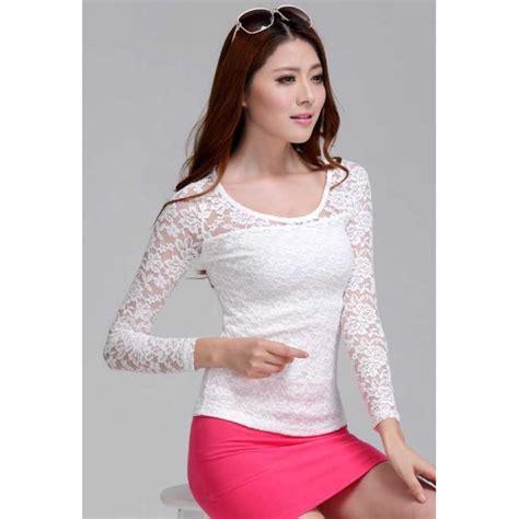 Blouse Wanita Lengan Panjang blouse wanita lengan panjang model brukat t1623 moro fashion