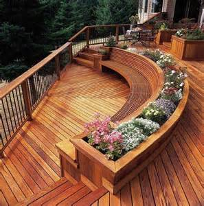 gorgeous built in seating and planters for the house