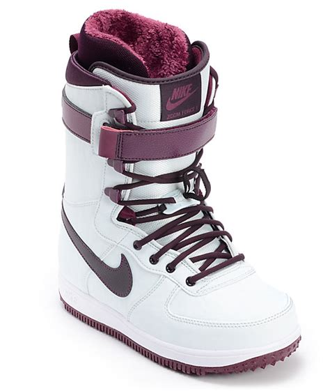 womans nike boots nike zoom 1 wind wine womens snowboard boots at