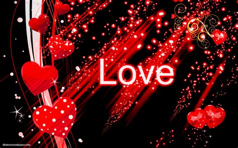 wallpaper hd black love black abstract wallpaper with red love hearts hd