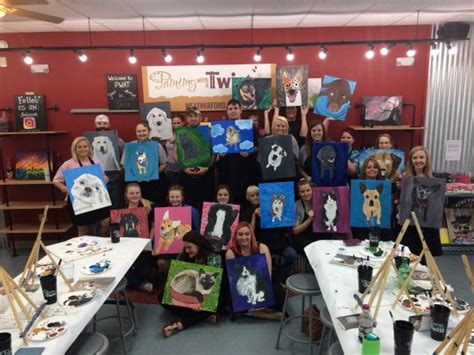 paint with a twist weatherford paint your pet picture of painting with a twist