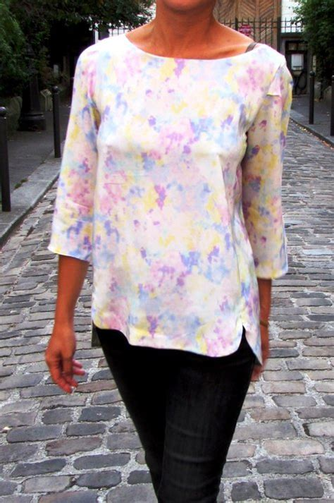 Pastel Blouse Salwa Jumbo cezembre blouse quot silk pastel quot sewing projects burdastyle