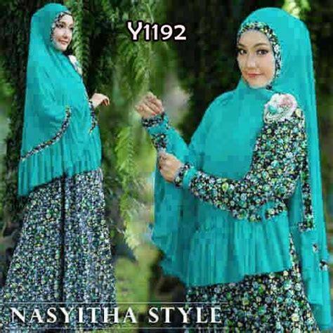 Baju Muslim Finka Set Baju Muslim Gamis Syari baju muslim syari nasyitha y1192 set bergo lebaran