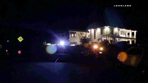 armed suspects break  chris browns tarzana