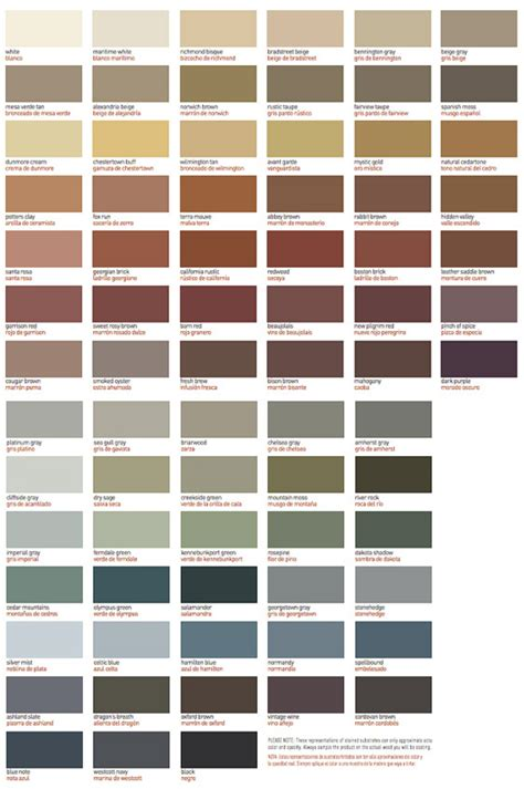 olympic stain colors impressive olympic deck stain color chart 11 benjamin