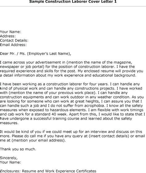 cover letter for construction labourer general laborer cover letter amere