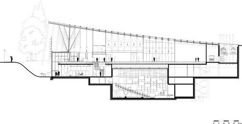 piano section renzo piano tjibaou centre drawing google search archi
