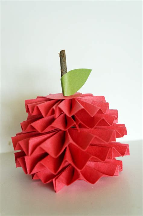 Paper Apple Crafts - hello wonderful 12 sweet and simple apple crafts
