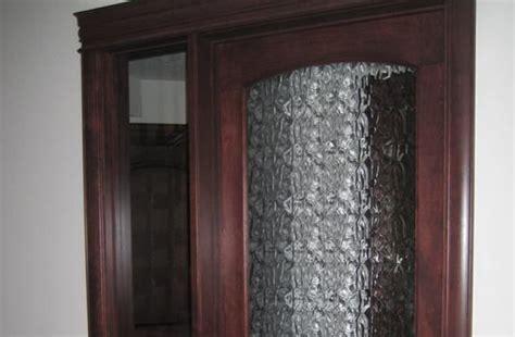 Calgary Pattern Frameless Glass Cabinet Doors   {AC Glass