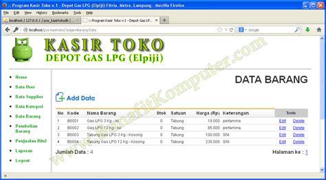 Software Program Aplikasi Kasir Toko Obat Obatan Toko 1d 1 contoh program kasir toko bunafit komputer