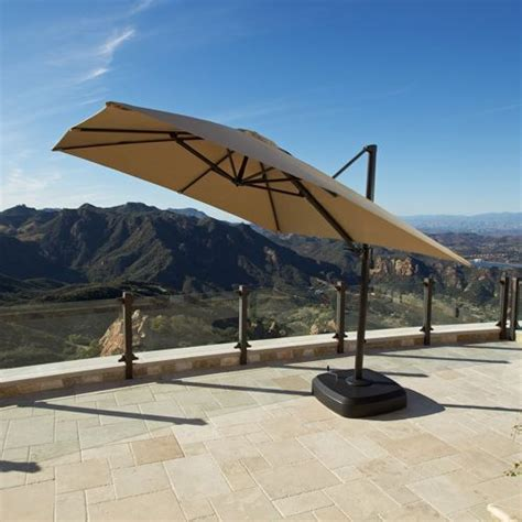 Patio Umbrellas Costco Portofino Signature Patio Resort Umbrella Backyard