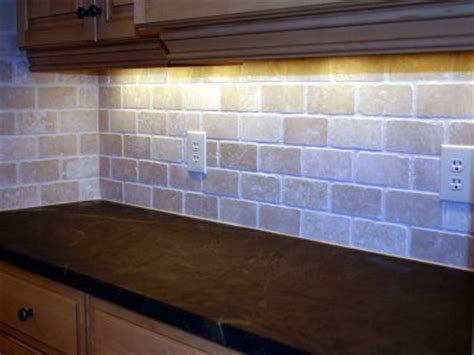 travertine brick backsplash tumbled marble backsplash in brick pattern