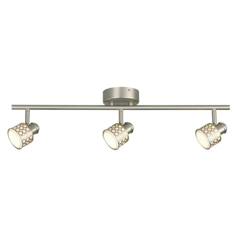 home depot led light fixtures hton bay 3 light led decorative directional track