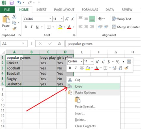 excel copy layout transpose feature in excel 2013 convert horizontal row