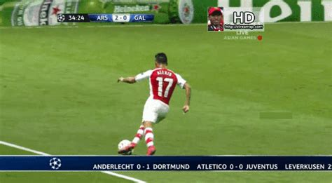 alexis sanchez gif felipe melo with two footed slide tackle on alexis sanchez