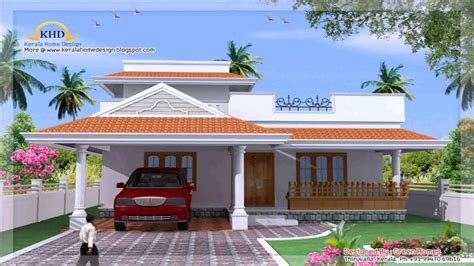 kerala style  bedroom house plans youtube
