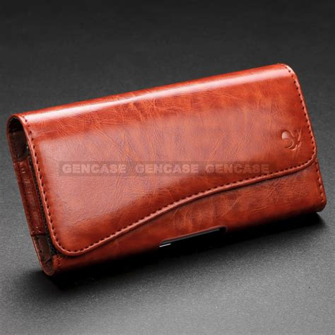 rugged leather rugged leather clip holster carrying wallet pouch cover for cell phone new ebay