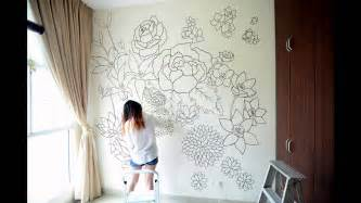sharpie wall mural floral a sharpie wall mural youtube