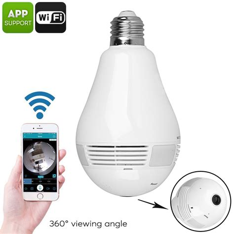 360 Degree Fisheye Hd 720p Motion Detection light bulb wifi mouthtoears