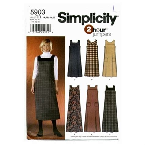 new look 6890 misses easy 2 hour pullover dress or mini misses sizes 14 20 simplicity 5903 2 hour pullover