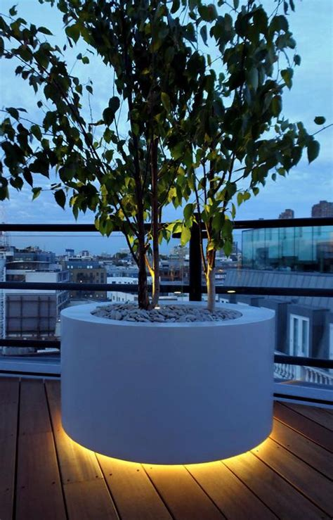 Outdoor Planter Lights by The Small Garden Pages