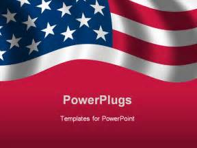 America Powerpoint Template by Flag Of The Usa Waving In The Wind Powerpoint Template