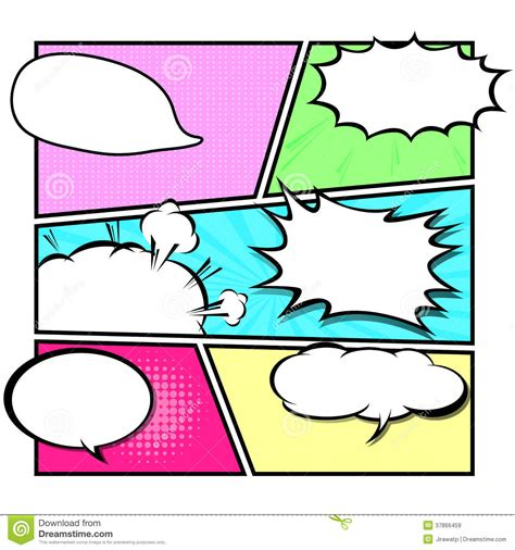 comic template vector pop art stock vector illustration