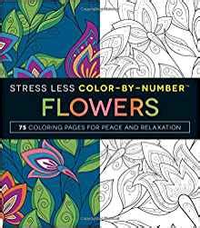 stress less coloring book 30 intricate detail page mandalas for coloring in for relaxation and stress relief books stress less color by number flowers 75