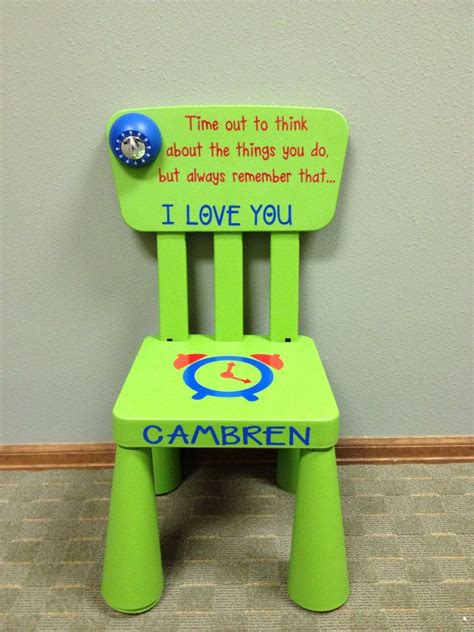 time out chair with timer personalized time out chair with timer light green