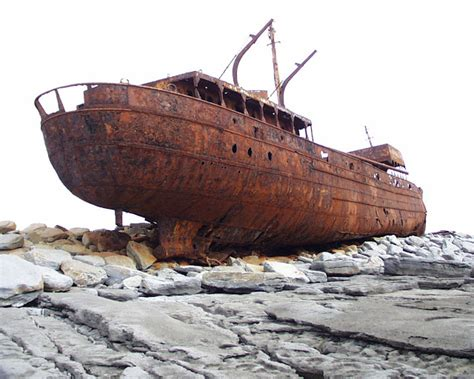boat wreck buoy 10 rusted shipwreck of the plassey near inis o 237 rr aran