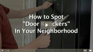 buyer beware door to door security salespeople