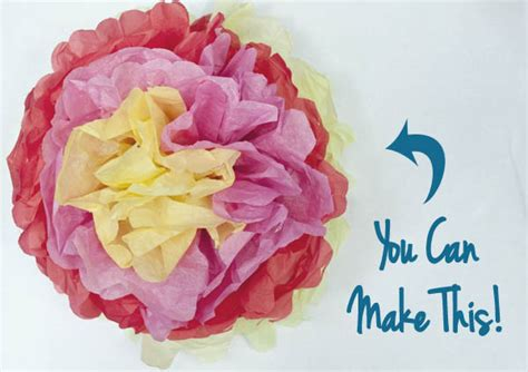 How To Make Paper Mexican Flowers - how to make tissue paper flowers clumsy crafter