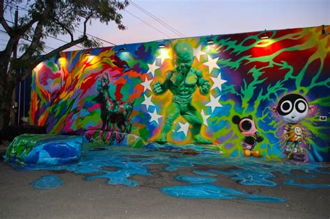 Surf Wall Murals peter tunney experience at wynwood walls glitter amp mud
