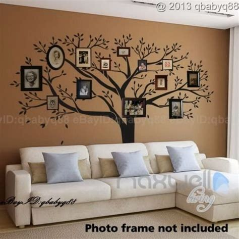 tree wall decals for living room giant family photo tree wall decor wall sticker vinyl art