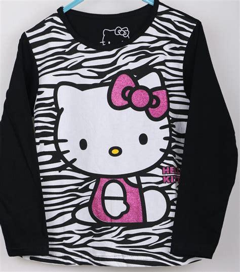 Kaos Hello kaos lengan panjang hello zebra 1 6 grosir
