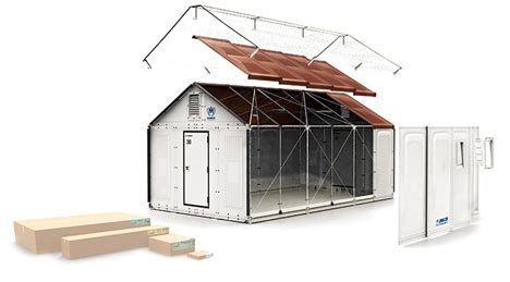 ikea transforms its flat pack cardboard packaging into details diagrams 1 000 ikea flat pack refugee shelter