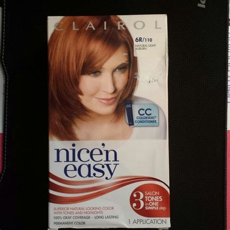 clairol nice n easy hair color 110 natural light auburn 33 off other clairol nice n easy 6r 110 natural light