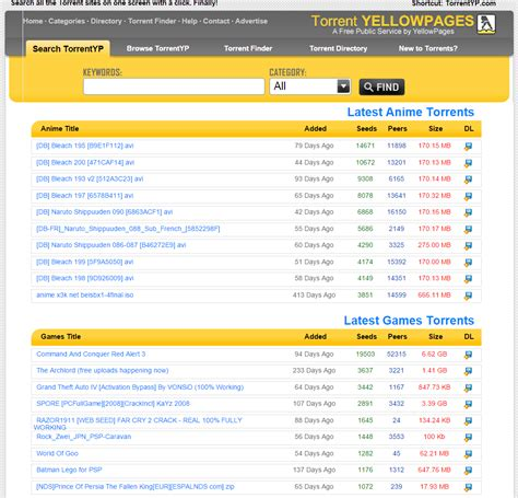 Finder Torrent Torrentyellowpages Torrentyellowpages Torrent Directory Torrent Finder Torrent