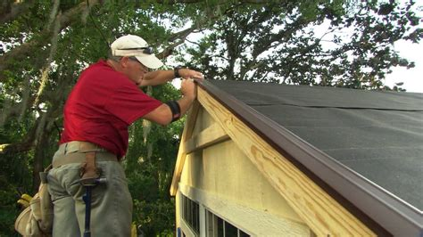 Putting A Roof On A Shed how to install roof shingles on a shed doovi