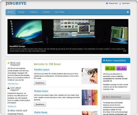 free templates for joomla 2 5 template jsn gruve for joomla 2 5 and joomla 3 0 rizvn